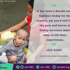 After 10 years: Ondoy survivors still need post-disaster counselling