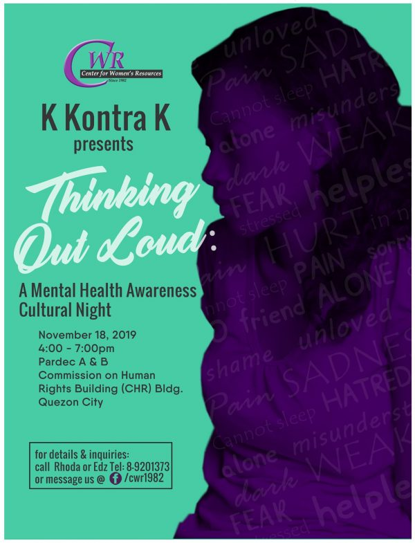 Thinking Out Loud: A Mental Health Awareness Cultural Night