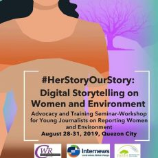 Call for applications: #HerStoryOurStory: Digital Storytelling on Women and Environment Training